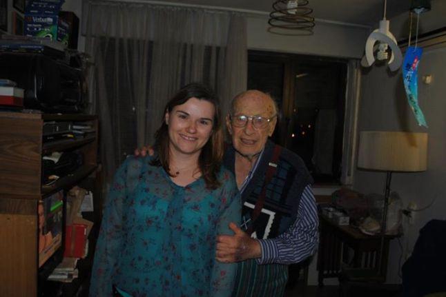 Tata la 90 de ani si Raluca