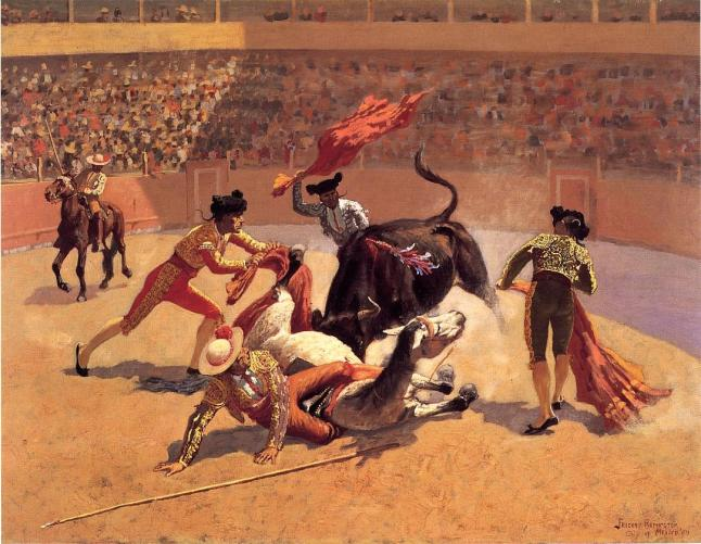 Vol2 Bullfight in Mexico Frederic Remington