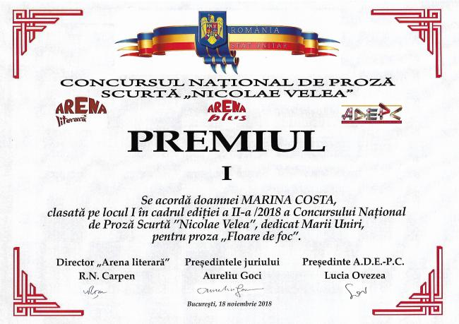 Diploma Nicolae Velea