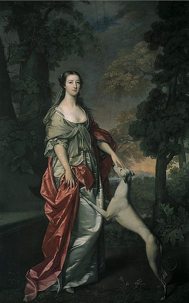 Elizabeth Gunning by Gavin Hamilton 1752-3, commission by Duke of Hamilton